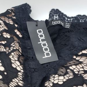 Boohoo Pants - Boohoo Lace Bodice Jumpsuit